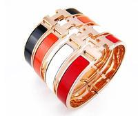 18K gold womens bangle/ love gold bracelet/ fashion & trendy letter h bracelet/ free shipping
