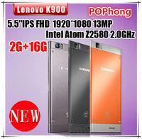 Original Lenovo K900 Phone Intel Atom Z2580 2.0GHz 2G RAM Android 4.2