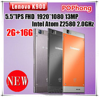 Original Lenovo K900 Phone Intel Atom Z2580 2.0GHz 2G RAM Android 4.2