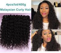 Mix lots Malaysian Virgin Hair 4 pcs Malaysian Curly Virgin Hair Discount Weave Malaysian Curly Hair Human Hair Weaves