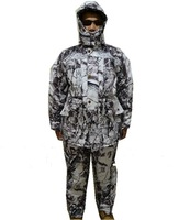 Breathable Winter Snow Camo Hunting Suits Snow Bionic Pattern Camouflage Clothing