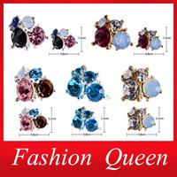 Zircon Rhinestone Alloy Flowers 3d Nail Art Decorations,5Designs(30pcs/lot) Glitter Candy DIY Beauty Nail Accessories Jewelry