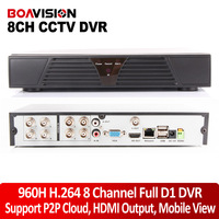 H.264 CCTV DVR 8 Channel FUll D1 960H HDMI 1080P Real-time Network Recording DVR recorder Free DDNS P2P Cloud CCTV System