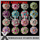 Free Shipping Special Stargazer Acrylic Rhinestone Button with Shank Backing,Mixed Assorted Color,50pcs/lo