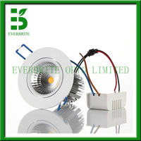 Free shipping,  led cob ,7w COB led downlight,warm white,LED luminaires, wholesale and promotion