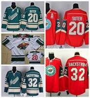 Ryan Suter Jersey #20 Niklas Backstrom 32# Minnesota Wild jerseys Ice Hockey Adult Alternate Green Fashion All Stitching A patch