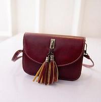 Wholesale Women Handbag Candy Color Retro Style Women Leather Handbags  Women Messenger Bag Lovely Gift  Bags For Girls