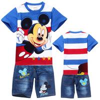 New Summer Conjuntos Kids Clothes Sets Boys T Shirt + Kids Pants Baby Clothes Baby Boy Clothing Set Roupas Infantil Sports Suit