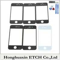 one tool 2*Black+3*White 4G Glass Lens For iPhone 4 4G LCD front Screen Outer Glass Free Shipping as gift