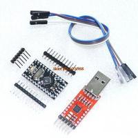 Free Shipping 2PCS=1LOT CP2102 Module + 1PCS Pro Mini Module Atmega168 5V 16M For Arduino Compatible With Nano