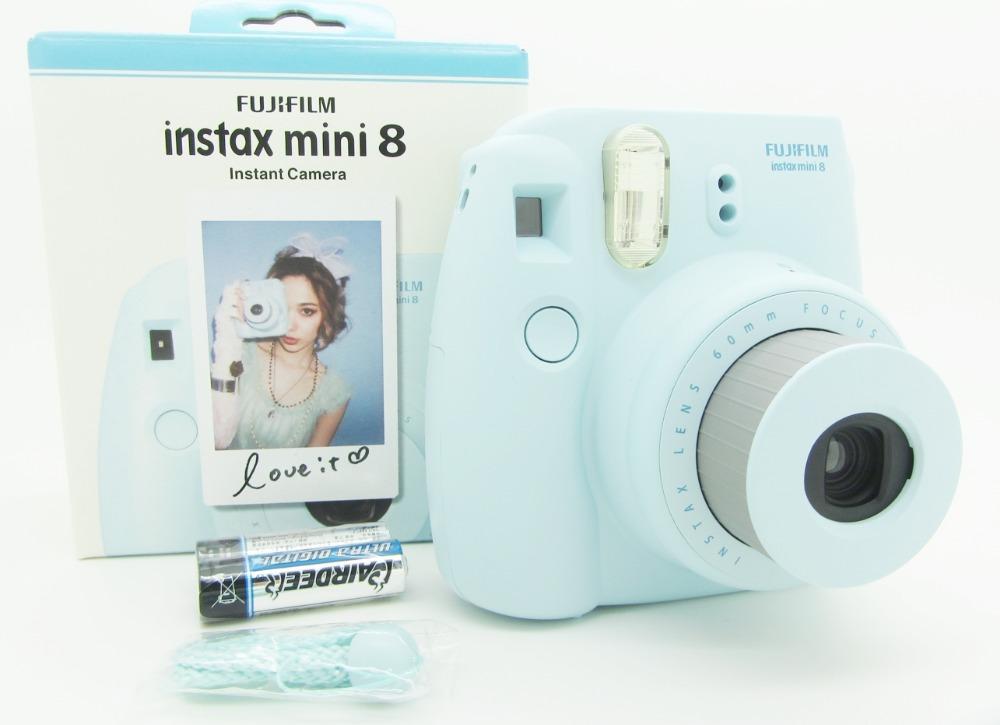 Fujifilm Instax Mini 8 Instant Film Photo Polaroid Camera Yellow Blue White Black Pink Free Shipping(Hong Kong)