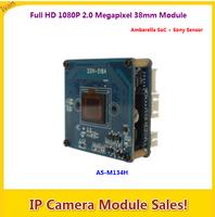 Full HD 1080P 2.0 Megapixel IP Network Camera Module AS-M134H, Ambarella SoC + Sony Sensor, Universal 38mm Dual Boards