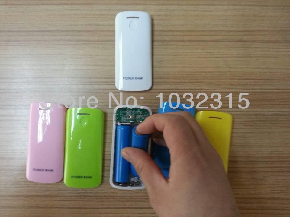 New 2x18650 battery Box Shell Power bank 5600mah Case box shell for iPhone 5/4S/ Samsung/ Nokia/ Blackberry(China (Mainland))