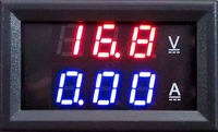 2014 New Red Blue LED DC 0-100V 10A Dual display Meter Digital Voltmeter Ammeter Panel Amp Volt Gauge #6 TK1382