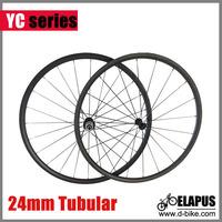 Hot selling Ceramic Bearing wheel, 700c 24mm tubular full carbon road bicycle wheel