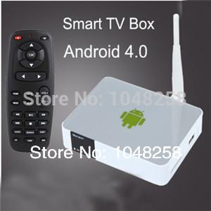 android mini pc tv box Google Andriod 4.0 Media Player Internet Wifi Smart TV Box Full 1080P tv receiver,Sweden Brazil USA(China (Mainland))