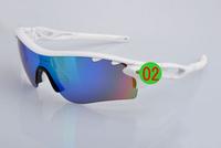 Hot sale!!!!!2014 new Men's Cycling Sport Sunglass radar lock Path Sport eyewear 28 colors 5 pcs Lens with box set ok sunglasses