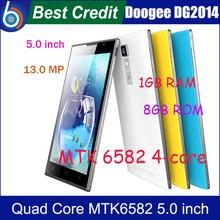 Original black Doogee DG2014 MTK6582 quad core 1.3Ghz 1gb ram 8gb rom 5.0″ IPS HD OGS 13mp andriod 4.2 phone white/Kate