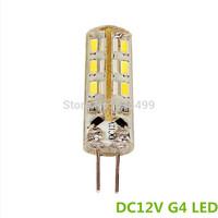 DC 12V  1.5W  G4  LED bulb Dimmable 24pcs  3014 chip led Silicon lamp 360 Degree10pcs/lot