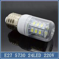 10x Mini E27 Corn Bulbs 24 36 LED Lamps 220V 7W 12W SMD 5730 5630 Crystal Droplight Chandelier Spot Light 360 degree Chandelier