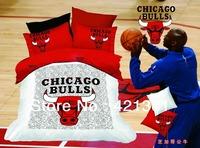 knicks celtics lakers Miami Heat Rockets Bulls basketball bedding set  100% cotton duvet cover bed sheet pillowcases