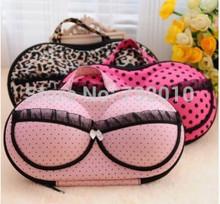 9 colors Hearts . underwear storage box covered bra finishing box panties socks travel portable storage box & bra bag 3321(China (Mainland))