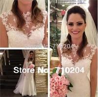 New model fashion hot sale brazil designer Wedding Dress real photos