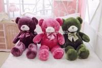 High Quality 60cm Purple & Pink Plush Teddy Bear Toys, Stuffed Plush Bear Doll With Bow Tie Birthday Gift 60cm/80cm/100cm/120cm