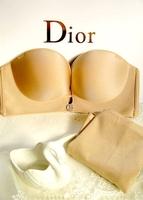 2014 Fashion Wedding Bra Seamless Bra Set Rhinestone Elegant Deep V-neck Push Up Bra Women Underwear Set High Quality Bra B Cup