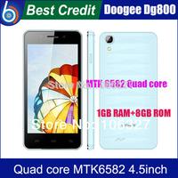 In stock!2014 New Original Doogee Valencia DG800 MTK6582 Quad core 1GB 8GB 13.0MP 4.5 inch IPS Android 4.4 OTG OTA/Kate