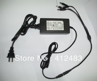 Hot 12V 5A Power Supply For Camera 4 Port DC With Pigtail DC adapter