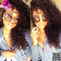 Affordable Cheap Curly Full Lace Wig Virgin Peruvian Human Hair On Sale For Black Women 180%Heavy Density Full Lace Wig Glueless