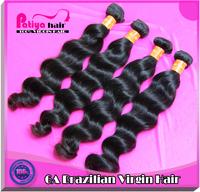 Guangzhou patiya online wholesale brazilian natural wave natural black hair brazilian virgin hair 3pcs lot can dye free shipping