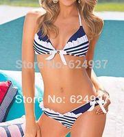 2014 Dropshipping!Factory Wholesales Navy Swimsuits Slim Bikini Ladies Swimwear S M L 1403