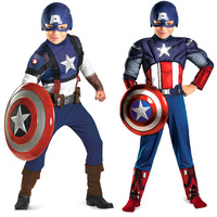 The Avengers Coslplay For Kids Boys Captain America Costume And Plastic Shields Disfraz Winter Solider Pelicula
