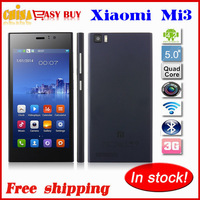 Original Xiaomi M3 Xiaomi Mi3 WCDMA phone Quad Core Qualcomm Snapdragon 1080P  IPS screen 2G RAM 16G ROM 13MP GPS  OTG support