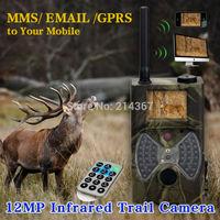 12MP HD GSM MMS Hunting Game Cameras GPRS Wild Camera GPRS MMS Free ship