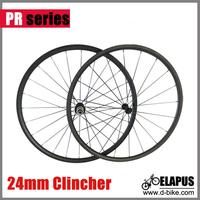 24mm clincher carbon road bike wheels, 700c carbon wheelset carbon bicycle wheels