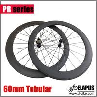 Only 1398g 23mm width 60mm tubular carbon wheels 700c carbon fiber racing road bike wheelset