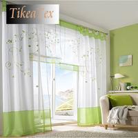Modern Fashion White Flower  Embroider Sheer Curtain Window Roller Blinds Roman Blind Curtains Gauze for living room bedroom b04