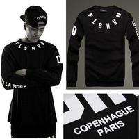New 2014 Autumn American Streetwear Men Suit FLSHVN Man Hoody Sweatshirts Print Hiphop Pullover Hoodies Sport Suit Men A025