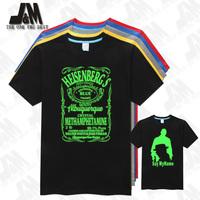 Glowed Breaking Bad shirt Men's T-shirts breaking.bad  Inspired Mens Heisenberg Blue Crystal Meth Label costume breakingbad sale
