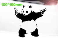 "double 11.11 !!100*100mm funny waterproof car styling,""cute panda"" car sticker for bmw e46,kia rio car covers"