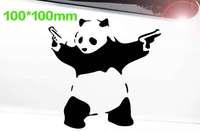 "double 11.11 !!100*100mm funny waterproof car styling,""cute panda"" car sticker for bmw e46,kia rio car covers"