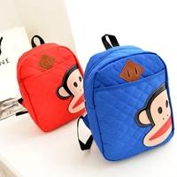 Hot Sale Children School Bags Cute Cartoon Backpack Kids Canvas Bag 6 Colors Free Shipping C0120