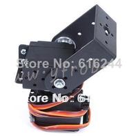 Free Shipping 1set 2 DOF Short Pan And Tilt Servos Bracket Sensor Mount Kit For Robot Arduino Compatible MG995 Wholesale Retail