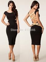 2015 New fashion dress casual women's slim dress Vestido Moda Patry dresses bandage women dress Slim sexy Party Pencil Dress