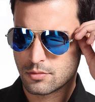 Multicolour neon sunglasses mirror surface mercury reflective sunglasses large motorcycle metal framework sunglasses