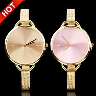 2014 New Fashion Brand Gold & Silver Ladies Quartz Casual Watch.Luxury Wristwatches Women Dress watches Clock Relogio Feminino(China (Mainland))