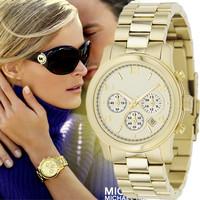 2014 Fashion Watch Rose Gold for Women with Calendar Stainless Steel Strap Luxury Brand Quartz Wrist watch men full steel watch